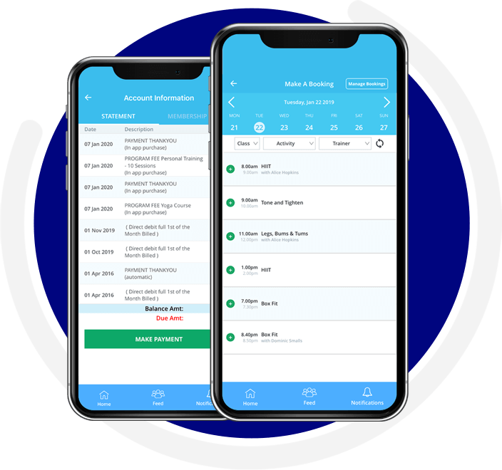 FitSense Booking App